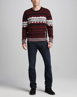 Diesel Over Jacquard Sweater & Safado Dark Jeans