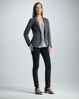 Go by Go Silk Silk Blazer, Go On A Tear Tank & Stretch-Silk Pants