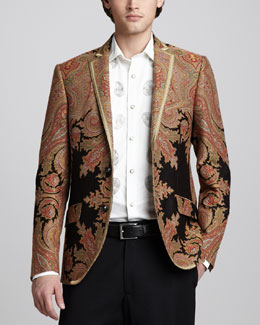 Etro Paisley Evening Jacket & Embroidered Shirt