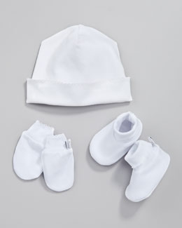 Kissy Kissy Essentials Hat, Booties & Mittens