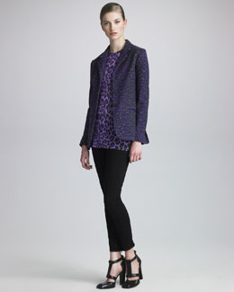 Christopher Kane Leopard-Print Blazer, Tee & Engineered Skinny Jeans