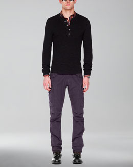 Michael Kors  Thermal Henley, Check Tailored Shirt & Cargo Pants