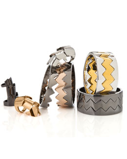 Eddie Borgo Hinged Plate Rings & Bear-Trap Bangle Sets