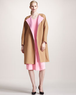Jil Sander Colorblock Coat & Architectural Crepe Dress