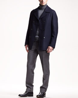 Jil Sander Venezuela Pea Coat, Turtleneck Sweater & Miller Pants