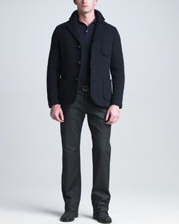 Giorgio Armani Boiled Wool Jacket, Logo Polo & Classic-Fit Jeans