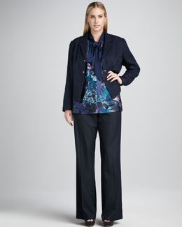 Tahari Woman Selinda Jacket, Dylan Blouse & Merlin Denim Pants, Women's