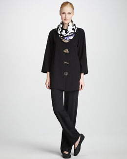 Caroline Rose Stretch-Gabardine Travel Jacket, Pants & Safari Party Infinity Scarf