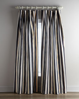 "MacKenzie-Childs ""Courtly Stripe"" Curtains & ""Pom Pom Festoonery"" Tassels"