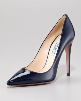 Prada Pointed Patent Leather Pumps