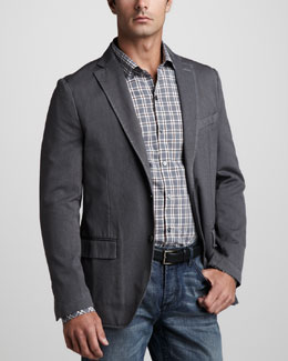 Zachary Prell Waverly Unstructured Sport Coat & Gaiser Plaid Shirt