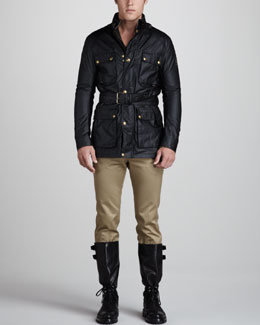 Belstaff Waxed Roadmaster Jacket & Snap-Pocket Chino Pants