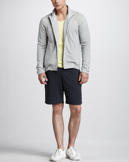 Theory Fleece Track Jacket & Shorts