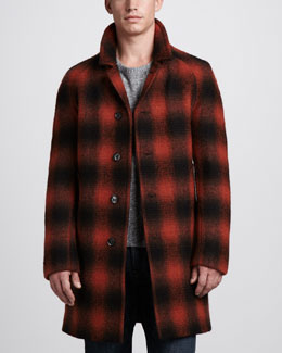 Burberry Brit Ombre-Check Coat, Tweed Sweater & Slim Black Jeans