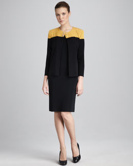 Misook Collection Colorblock Jacket & Sleeveless Dress