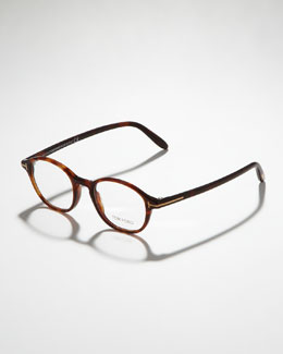 Tom Ford Unisex Semi-Rounded Fashion Glasses