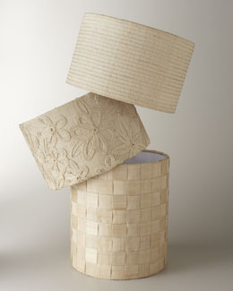 Raffia and Abaca Lamp Shades