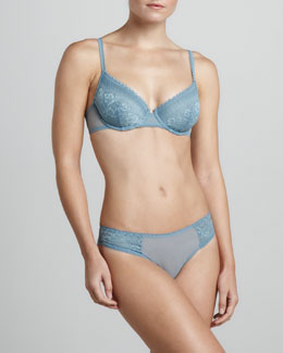 La Perla Looking for Love Underwire Bra & Briefs, Light Blue