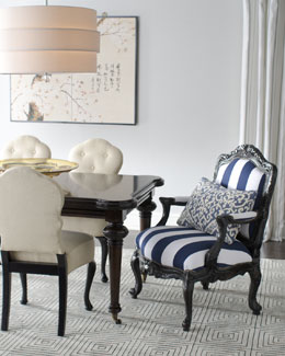 "Barclay Butera Lifestyle ""Sutter"" Rectangular Dining Table, ""Lita"" Side Chairs, & ""Palomar"" Chair"