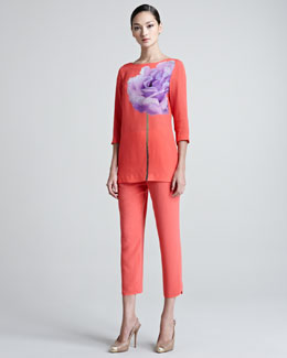 Escada Narayani Placed Floral Tunic & Terezi Pull-On Pants