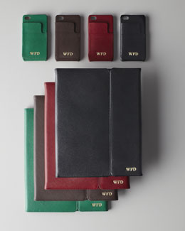 """Saffiano"" iPhone 4/4s, iPhone 5, & iPad Cases"