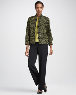 Caroline Rose Abstract Squares Jacket, Knit Shell & Straight-Leg Pants, Women's