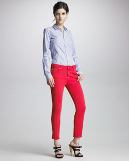 DSquared2 Striped Button-Front Shirt & Cool Girl Stretch Jeans