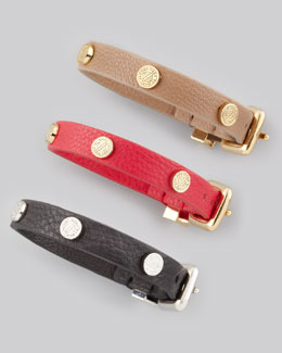 MARC by Marc Jacobs Turnlock-Stud Leather Bracelet