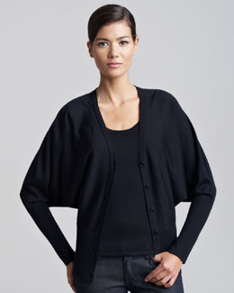 Ralph Lauren Black Label Long Dolman-Sleeve Cardigan & Cashmere-Silk Tank