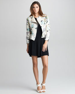3.1 Phillip Lim Floral-Print Corded Jacket & Sheer-Inset Merino Dress