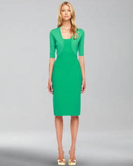 Michael Kors  Featherweight Wool Shrug & Sleeveless Wool-Crepe Dress