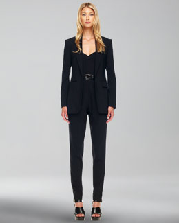 Michael Kors  One-Button Crepe Jacket & Strapless Jumpsuit