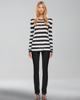 Michael Kors  Striped Knit Sweater & Samantha Slim Pants