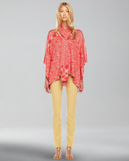 Michael Kors  Space-Dye Knit Sweater, Scarf & Samantha Skinny Pants