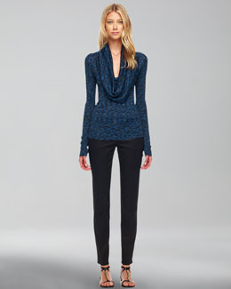 Michael Kors  Space-Dye Cowl-Neck Top & Skinny Jeans