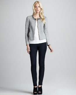 Elizabeth and James Quinn Bead-Trim Jacket & Makino Slim Pants