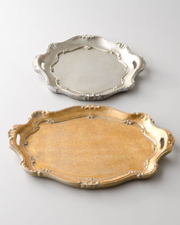 "Metallic ""Baroque"" Charger Plates"