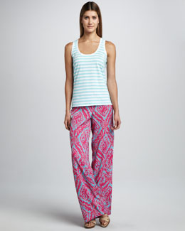 Lilly Pulitzer Stuart Striped Tank & Middleton Palazzo Pants