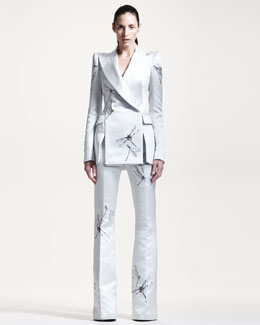 Alexander McQueen Double-Breasted Jacket & Flared Pants