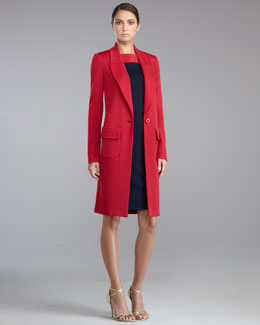 St. John Collection Milano Knit Cocoon Jacket & Sleeveless Sheath Dress