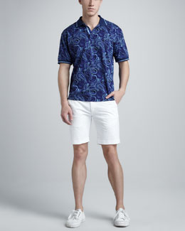 Robert Graham Dorado Paisley-Print Polo & Walkin Chino Shorts