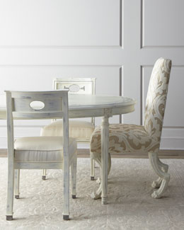 Florence de Dampierre Rubbed-White Dining Furniture