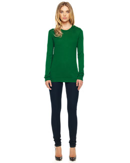 MICHAEL Michael Kors  Side-Panel Sweater & Zipper-Cuff Skinny Jeans