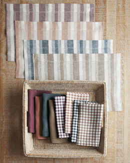 SFERRA Herringbone, Gingham, & Solid Table Linens