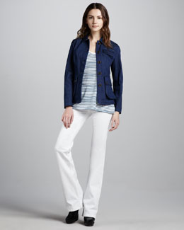 Burberry Brit Denim Utility Jacket, Striped Logo Tee & Power-Stretch Boot-Cut Jeans