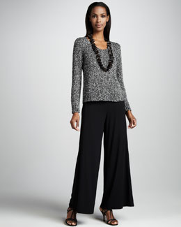 Eileen Fisher Soft Boxy Top & Wide-Leg Jersey Pants