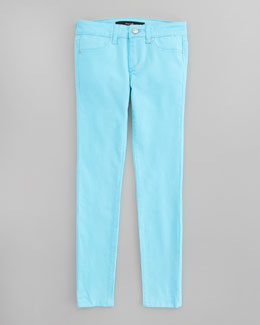 Joe's Jeans Neon Stretch Denim Leggings, Electric Blue