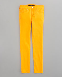 Joe's Jeans Neon Denim Leggings, Orange