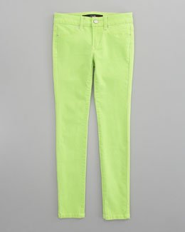 Joe's Jeans Neon Denim Leggings, Green
