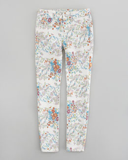 Joe's Jeans Floral Denim Leggings, Bright